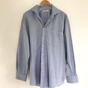 Peter Millar Xl Blue Button Down Shirt